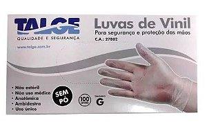 Luva de Vinil com pó Talge CA 27802