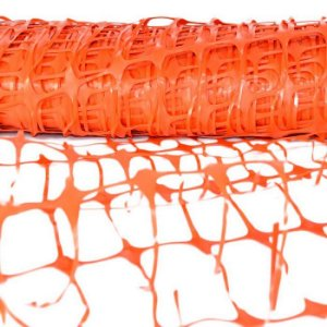 Tela Tapume extrusada plástica para sinalização Laranja 1,20 x 50 metros