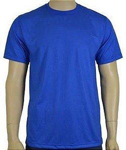 Camiseta de Malha Poliéster Azul Royal