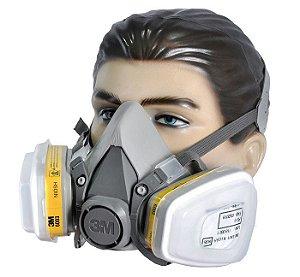 Respirador 3m 6200 Completo Para Vapores e Gases Ácidos