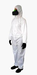 Macacao De Proteção Química Covertech 100 Branco Volk Ca 39183 Tamanho EG