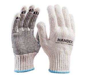 Luva Handex Hand Tricotada Pigmentada 9 (G) Branca Ca 43388