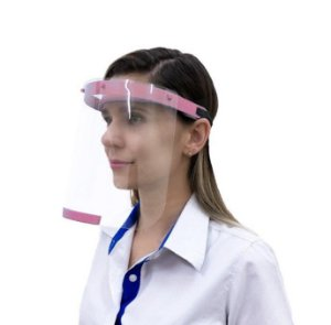 Protetor Facial Face Shield Rosa