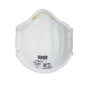 Respirador Descartavel PFF2 Sem Valvula Concha Msa Affinity 3220 Branco - Ca 39227