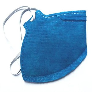 Respirador Descartavel PFF2 Sem Valvula Dobravel Plastcor Ecoar Azul - Ca 38811