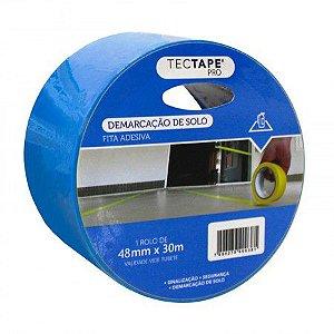 Fita Adesiva Demarcação Tectape Azul 48mmx30m