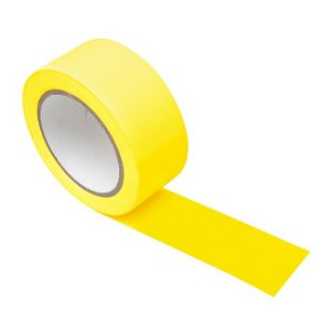 Fita Adesiva Demarcação Tectape Amarela 48mmx30m