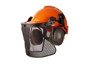 Kit Forestal Capacete com Abafador e Protetor facial Libus