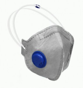 Respirador Pff2-S Carvão Ativo Cinza com Válvula Sayro Ca 39645