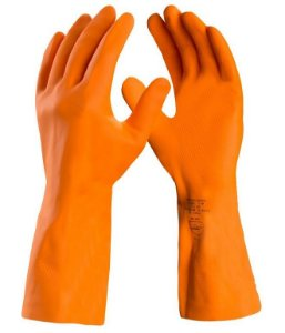 Luva Látex Reforçada Danny Max Orange Ca 11286