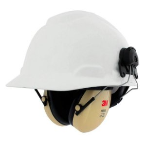 Kit Capacete H-700 3m Acoplado Com Abafador Concha Peltor H6P3E
