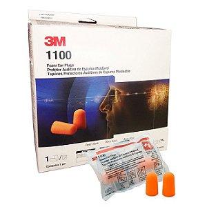 Protetor Auricular Espuma  3m Ref 1100 - Caixa 200 Peças