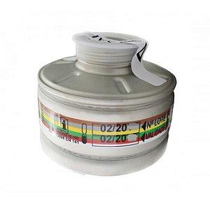 Cartucho Multigases + P2 Abek P2 Airsafety 9000 Fullface (513084) - Ca 5758