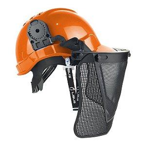 Kit Capacete Genesis com Jugular e Malha Plastica Libus
