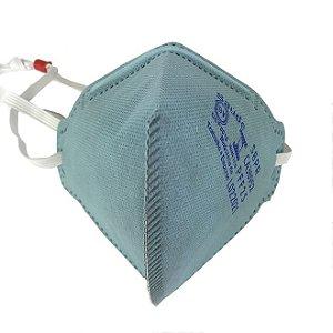Maskface Pff-2s Plus Azul Claro Sem Válvula  Air Safety Ca 38952 Carvão Ativo