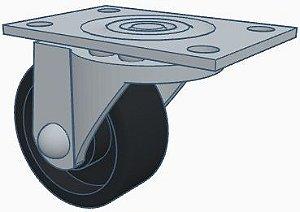 Roda Boba - Diâmetro 31,5mm. Altura 40mm