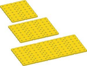 """Conjunto 3 placas 3 mm """"G""""  em Termoplástico Amarelo."""