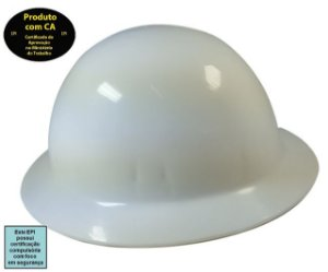 Capacete Classe B Aba Total ELT - Plastcor - C.A 25883