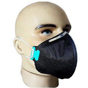 Respirador Descartável Preto PFF2-S - Sem Válvula - C.A 38828