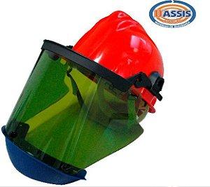 Protetor facial c/ capacete 18 ATPV - C.A: 15.920
