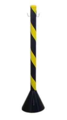 Pedestal Plástico Zebrado PT/AM - 90CM - PIC