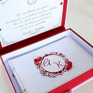 Livro de Assinatura Casamento com caixa
