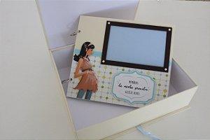Diário da gravidez com caixa