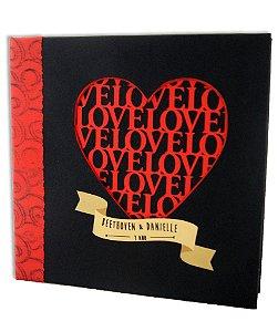 Álbum Love - COM 12 FOLHAS