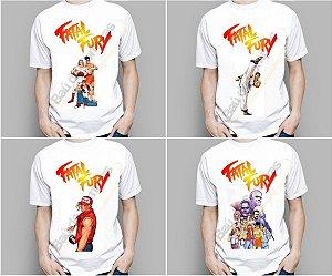 Camiseta Camisa Vintage Old School Snk Neo Geo Fatal Fury