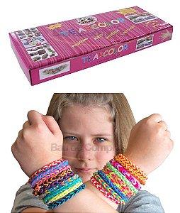 Kit Completo Rainbow Loom Tear Fábrica De Pulseiras Elástico Original