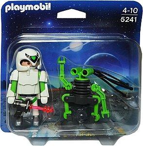 2 Bonecos Playmobil Astronauta e ET Original