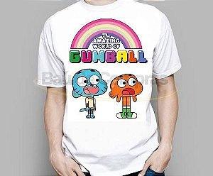 Camiseta Infantil O Incrível Mundo De Gumball Cartoon
