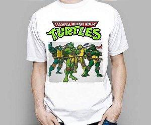 Camiseta Infantil Adulto Desenho Animado Tartarugas Ninja