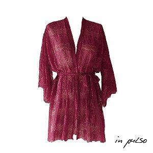 Minicoleção In Pulso: Kimono Renda Granada