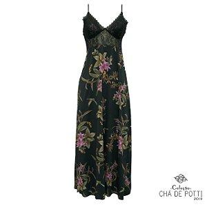Coleção Chá de Potti 2018: Slip Dress Oggi Longa Timeless & Black