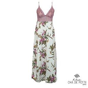 Coleção Chá de Potti 2018: Slip Dress Oggi Longa Freedom & Camafeu