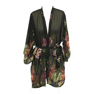 Mini coleção Aloha : Kimono Museline Arara Viva
