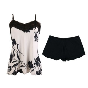Short Doll Sensuale Flor Black / Preto