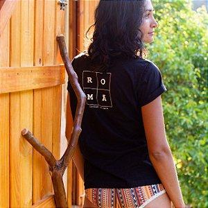 Potti Homewear : TShirt 100% Algodão - Branco & Preto - ROMÂ