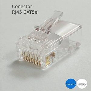 Conector de cabo de rede rj45 cat5e mxt Manaus - 300 unidades