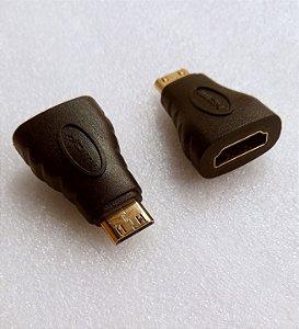 Adaptador HDMI femea para mini HDMI macho, estoque em Manaus com entrega expressa