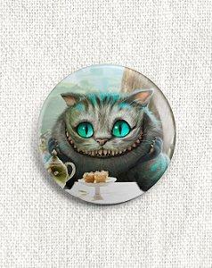 Boton Gato Cheshire - Alice no País das Maravilhas