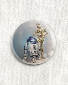 Boton Star Wars - R2D2 e C3PO