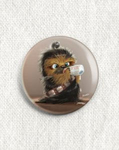 Boton Star Wars - Baby Chewbacca