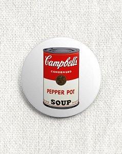 Boton Andy Warhol - Campbell's