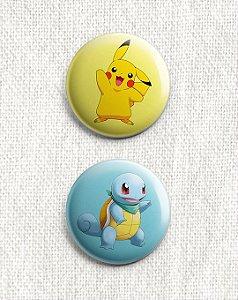 Kit 4 Botons - Pokémon