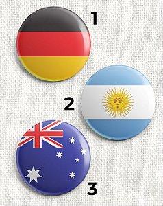 Botons Bandeiras de Países
