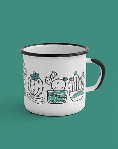 Caneca Esmaltada - Cactus