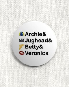 Boton Riverdale - Archie & Jughead & Betty & Veronica