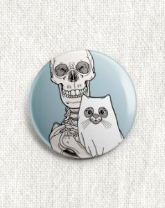 Boton Esqueleto e Gato Fantasma